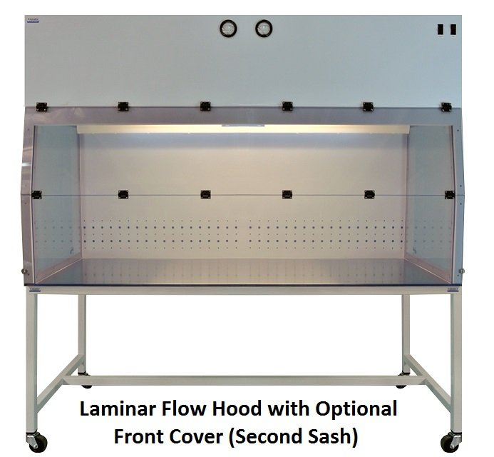 Laminar flow hood with Second Sash