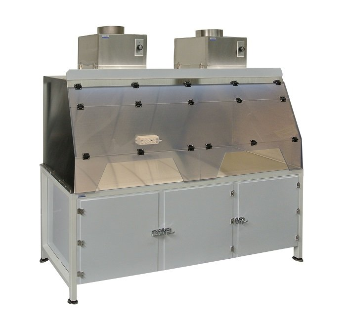 Stainless Steel Hood with Polypro Base Cabinet