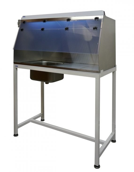 Stainless steel hood with Sink