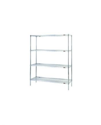 Quality Cleanroom Equipment - Durable Cleanroom Equipment - Affordable Cleanroom Equipment - Wire Shelving Rack - EAGLEgard A5-86-1860E by Cleatech LLC