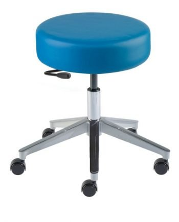 """Rexford Vacuum Formed RX-VF Series Laboratory Stools Wide Aluminum 17""""-22""""Height"""