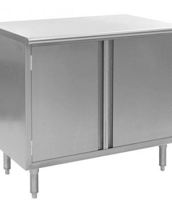 Lab & Cleanroom Equipment - Enclosed Stainless Steel WorkTable w/ Hinged Doors, Flat