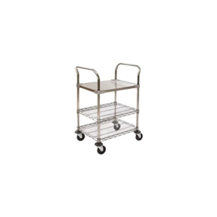 Utility Carts with Solid Stainless Steel Shelf