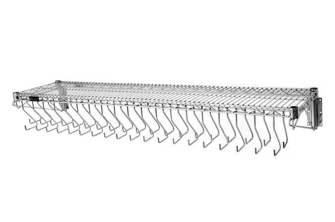 Wall Mounted Gowning Rack, Welded Hooks