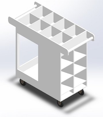 Polypropylene-Transport Cart B