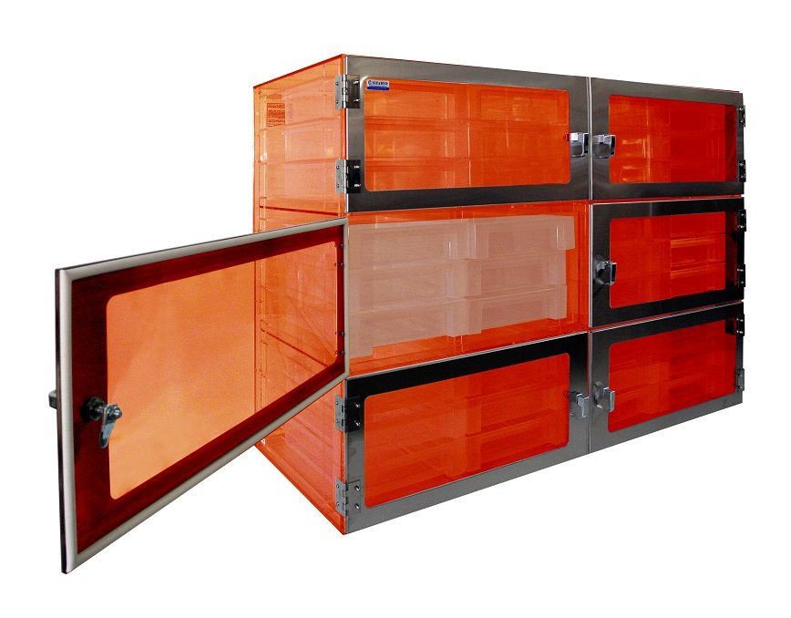 Drawer -Tray Desiccator Amber 6 Door