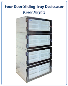 Clear Acrylic - Drawer Desiccator