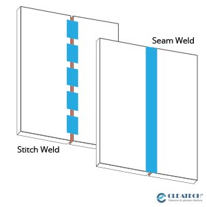 Seam Weld vs Stitch Weld - Diagram
