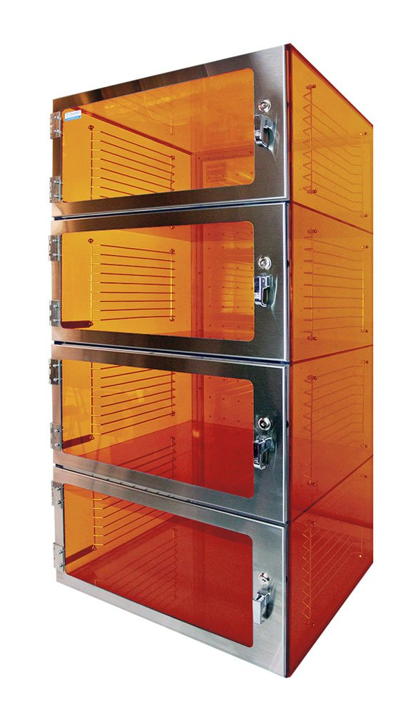 Amber Acrylic Desiccator Four Door – Cleatech