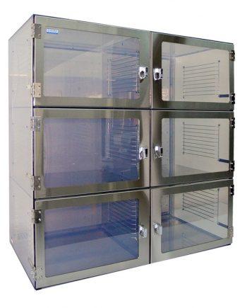 Inert Gas Desiccators - Nitrogen Desiccator Cabinet - Nitrogen Purge Cabinet - Desiccator Six Door Cabinet 1500 Series