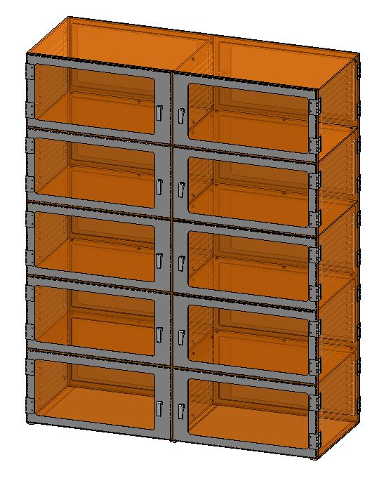 Ten door Pass-through-Amber-48x18x60