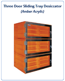 Amber Acrylic - Drawer Desiccator