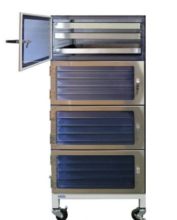four door desiccator cabinet esd stainless steel drawer