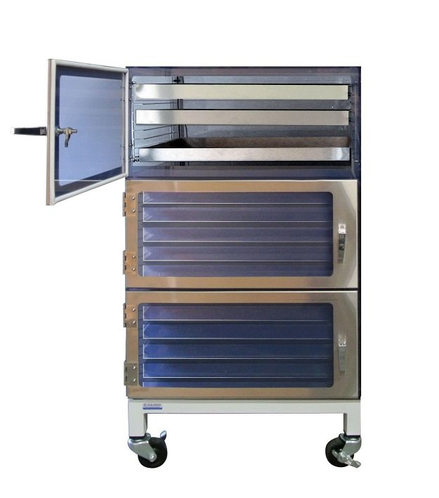 three door desiccator cabinet esd stainless steel drawer